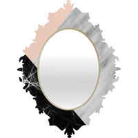 Emanuela Carratoni Marble Collage with Pink Baroque Mirror