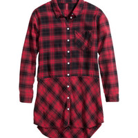 Long Flannel Shirt - from H&M