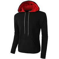 PREMIUM Mens Heavyweight Fleece Pullover with Contrast Hoodie (CLEARANCE)