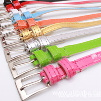 New Fashion Women's Leather Belts thin Belt Candy Color For Women