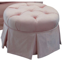 Angel Song 224820166 Aspen Pink Adult Park Avenue Round Ottoman