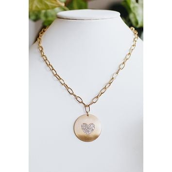 Heart Plate Thick Chain Necklace
