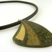 Butterfly Wing Leather Cord Necklace Choker Resin Pendant Magnetic Clasp