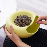 New Creative Opened Home Table Candy Snacks Dry Fruit Melon Seeds Holder Storage Box Nut Plate Dish Tray Garbage Box