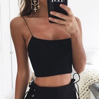 Sexy Solid Colo Sling Vest Top