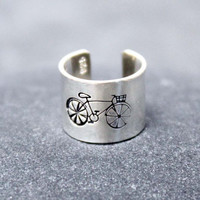 BICYCLE,Cartilage, Ear Cuff, Band, Wrap,14K Gold Filled, Sterling Silver,5mm