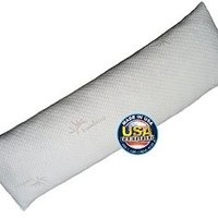 Body Pillow by Snuggle-Pedic - Bamboo Shredded Memory Foam Combination With Kool-Flow Cover