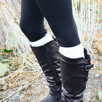 Waterview Black Riding Boots