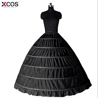 New Lace Edge 6 Hoops Petticoats Bustle for Ball Gown
