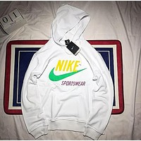 Nike Trending Women Men Stylish Print Long Sleeve Hoodie Couple Sweater Pullover Top Sweatshirt