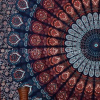 Hippie Bohemian Tapestries, Mandala Wall Hanging, Queen Tapestry, Indian Wall Art, Throws and Blanket, Cotton Bedding, Dorm Decor