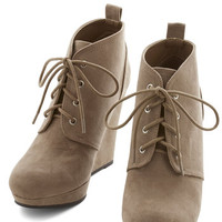 ModCloth Live Local Artist Bootie in Taupe