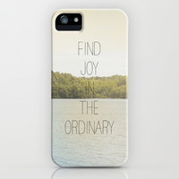 FIND JOY IN THE ORDINARY iPhone & iPod Case by Allyson Johnson