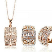 Luxury Austrian crystal Jewelry Sets Alloy high-grade Europe and the United States Style 1273-1273