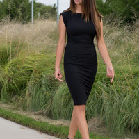 Knit Ribbed Simple Dress