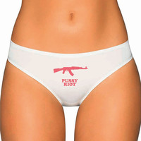 Pink Rifle Panties Underwear- Custom Underwear Panties Thongs Undies Lingerie