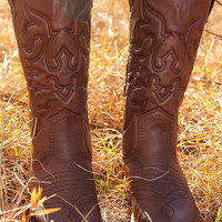 She's Country Cowboy Boots: Brown