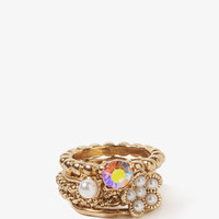 Pearlescent Twisted Ring Set | FOREVER 21 - 1025470083