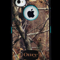 Custom Otterbox Defender Series Case for iPhone 4S AP Camo/Teal