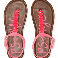 PS from Aero Girls Neon Faux Gem Sandals -