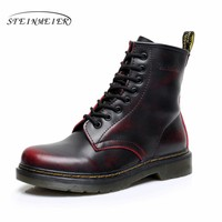 2017 boots winter snow factory-shoe black white red winter boots for women with fur Waterproof boots big shoes woman size 10