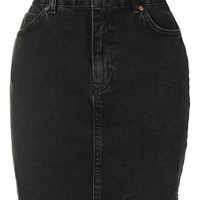 MOTO High Waisted Denim Skirt