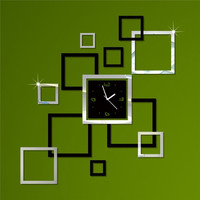 Mirror Strong Character Decoration Clock [4918618372]