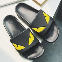 FENDI Woman Men Fashion Slipper Flats Shoes