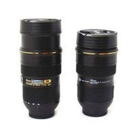 Nican Lens Style Camera Lens Stainless Steel Interior Cup Mug 24-70 Mm (Creative Cup Design Is Simulation to Nikon 24-70mm Lens / 1:1 Model Coffee Mug / Lens Thermos)