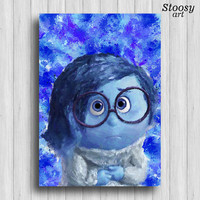 inside out sadness disney poster nursery decorations