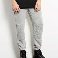 Grey Quilted Deep Cuff Sweatpants