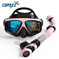 Scuba Diving Mask Set Anti Fog Goggles with Snorkel Glasses Tube Adjustable Strap for Women Men Adult Swimming Mask
