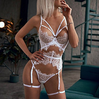 Garter Erotic Lace Lingerie Femme Sexy Underwear Porno Bra G-string Langerie Bandage Sexy Costumes Babydoll Lenceria Mujer S-3XL