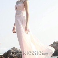 Sheath/Column Scoop Chiffon Evening Dresses - IZIDRESSES.COM