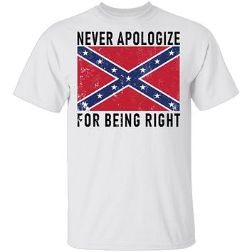 Nevr Apologize For Being Right T-Shirt