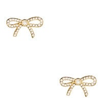 Kate Spade Dainty Sparklers Pave Bow Studs Clear ONE