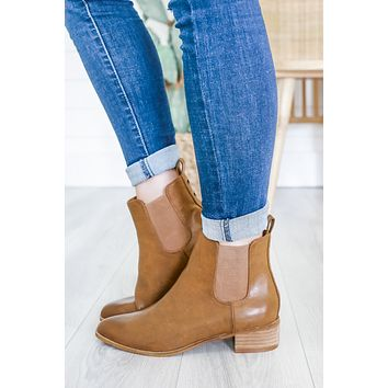 Ryleigh Booties - Chestnut