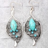 Boho Chic Turquoise Drop Earrings