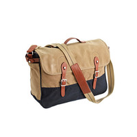 ABINGDON MESSENGER BAG IN TWO-TONE