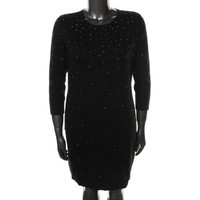 MICHAEL Michael Kors Womens Knit Long Sleeves Sweaterdress