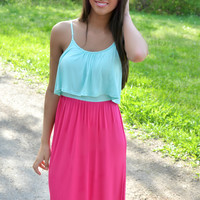 Raspberry Pop Maxi Dress