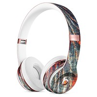 Grungy Orange and Teal Dyed Wood Surface Full-Body Skin Kit for the Beats by Dre Solo 3 Wireless Headphones