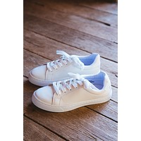 Power Lace Up Sneaker, White
