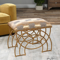 Marcedes Gold Small Bench