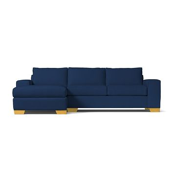 Melrose 2pc Sectional Sofa :: Leg Finish: Natural / Configuration: LAF - Chaise on the Left