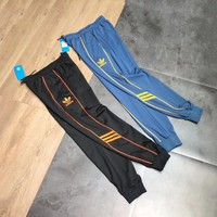 """Adidas"" Unisex Sport Casual Letter Stripe Signature Sweatpants Couple Leisure Pants Trousers"