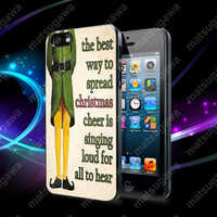Christmas Elf Quote Case For iPhone 5, 5S, 5C, 4, 4S and Samsung Galaxy S3, S4