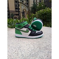Kids Air Jordan 1 Green Sneaker Shoe Size US 11C-3Y-1