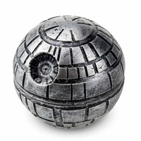 New Arrival 1pc Death Star Tobacco Grinder Star War Round Crusher 3 Parts Spice Mill Dia. 55mm Ziny Alloy Material
