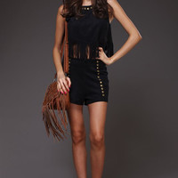 Fringe Suede Top